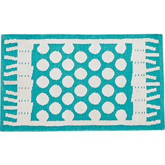 Party Turquoise Indoor-Outdoor Rug