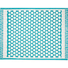 Party Turquoise Indoor-Outdoor Rug.