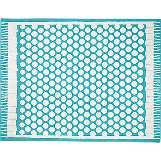 Party Turquoise Indoor-Outdoor 8'x10' Rug