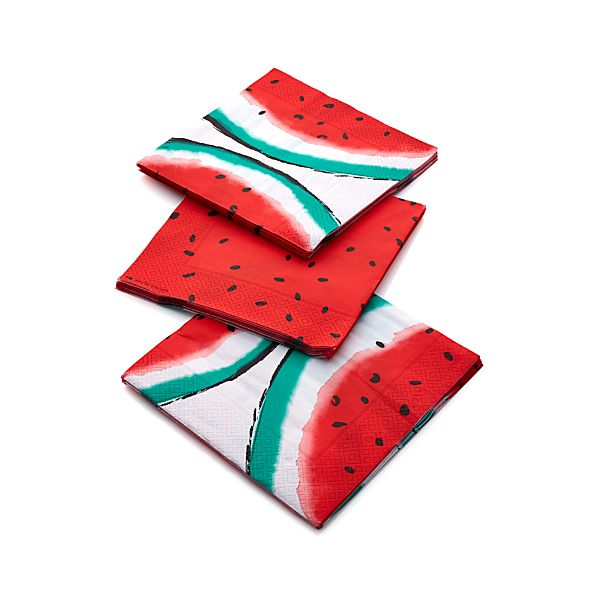 Party Watermelon Paper Dinner Napkins Set of 20