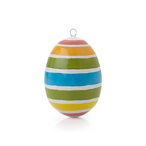 Pastel Stripe Design Egg