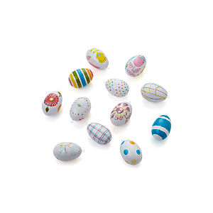 Set of 12 Pastel Design Eggs