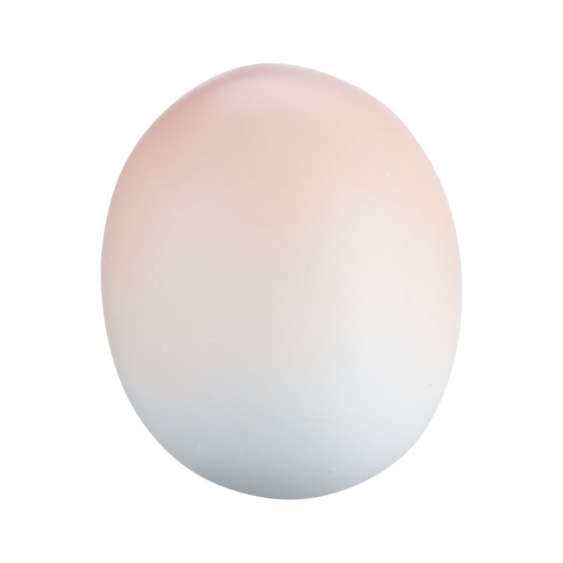 A herald of spring and new beginnings, gorgeous porcelain egg preserves the delicate beauty of the real thing, painted in graduated tones of soft pink. Molded eggs are polished silky smooth and add fresh, natural beauty displayed together in a bowl with other pastel shades in the collection.<br /><br /><NEWTAG/><ul><li>Molded, polished, fired and painted porcelain</li><li>Dust with dry cloth</li><li>Made in China</li></ul>