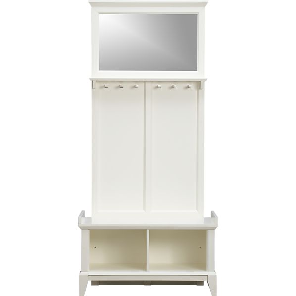 Paterson White Storage Bench with Panel