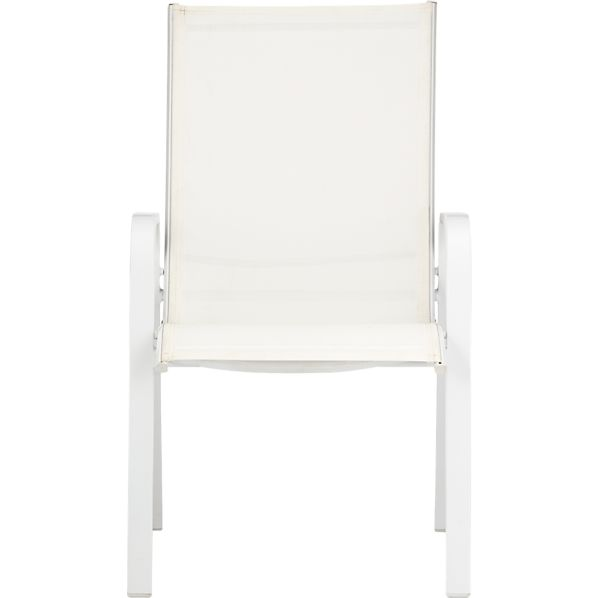 Patio White Stack Chair