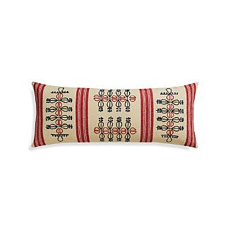 "Patou 36""x14"" Pillow with Feather-Down Insert"