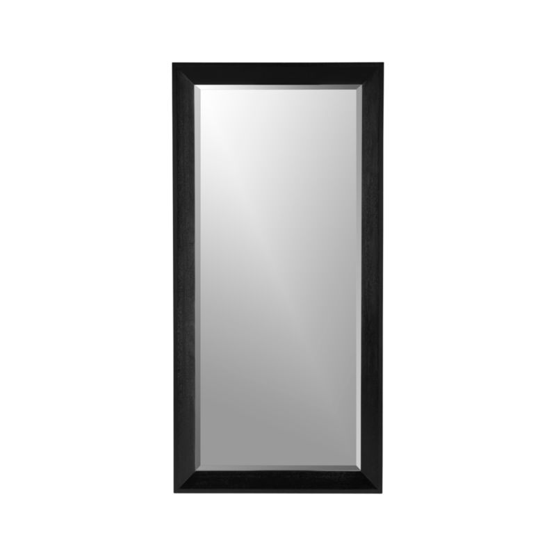 Pavillion black floor mirror crate and barrel for Black framed floor length mirror