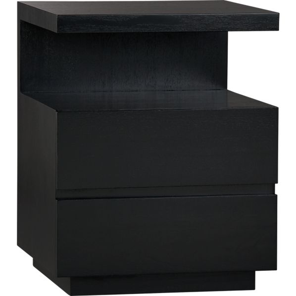 Pavillion Black Nightstand in Nightstands | Crate and Barrel