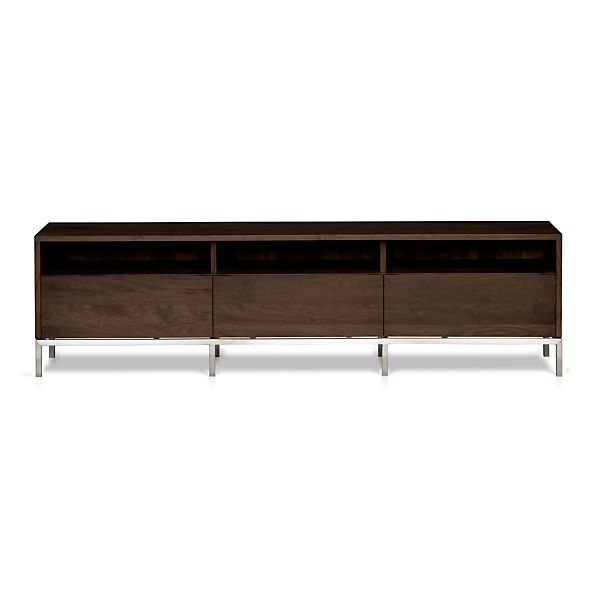 pearson 72 media console crate and barrel. Black Bedroom Furniture Sets. Home Design Ideas