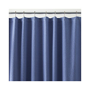 Pebble Matelasse Blue Shower Curtain