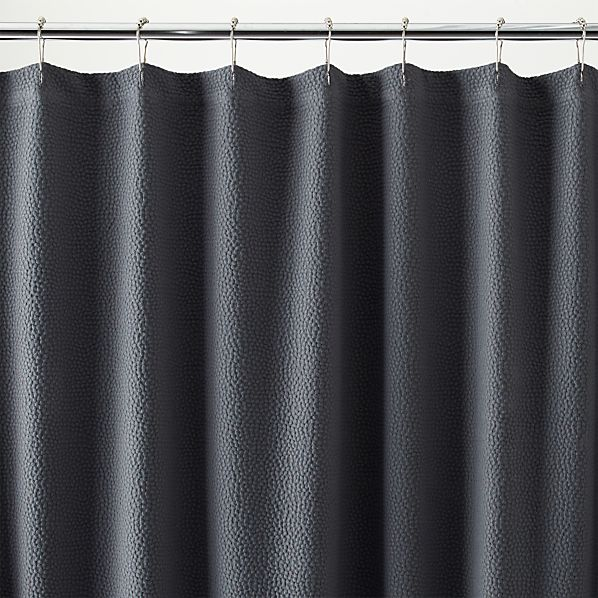 Gray Shower Curtain Pebble matelasse grey shower