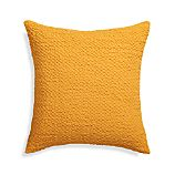 "Pebble Yellow 18"" Pillow with Feather-Down Insert"