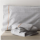 Pebble Queen Sheet Set.Includes one flat sheet, one fitted sheet and two standard pillowcases.