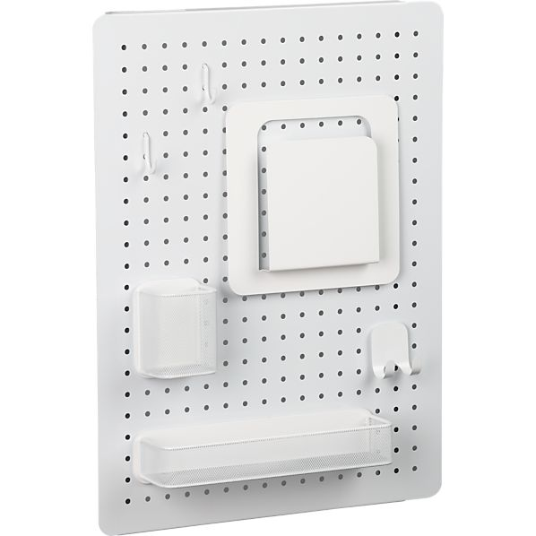 """three by three ® Peggy White and White 24""""x18"""" Board Set"""