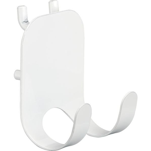 three by three® Peggy White Double Hook