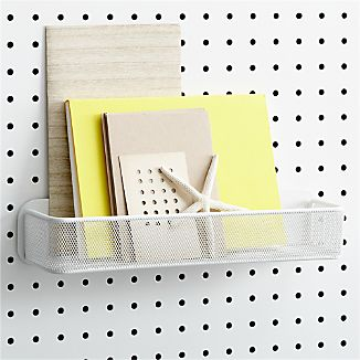 three by three® Peggy White Mesh Bin