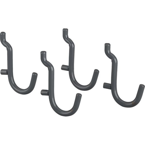 three by three® Peggy Grey Simple Hooks Set of Four