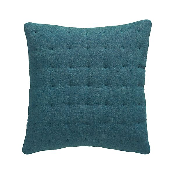 "Pelham Blue 20"" Pillow with Feather-Down Insert"