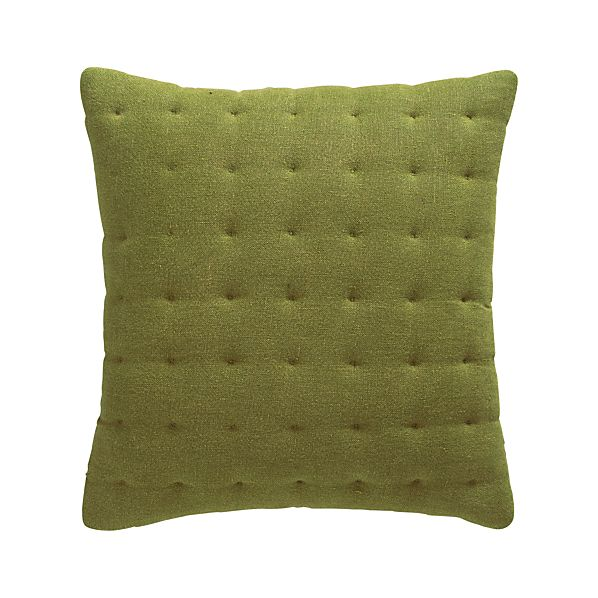 "Pelham Green 20"" Pillow with Feather-Down Insert"