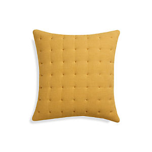 "Pelham Yellow 20"" Pillow"
