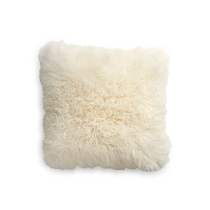 "Pelliccia 23"" Pillow with Down-Alternative Insert"