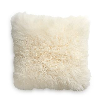 "Pelliccia 23"" Pillow with Feather-Down Insert"