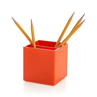Poppin® Orange Pen Cup