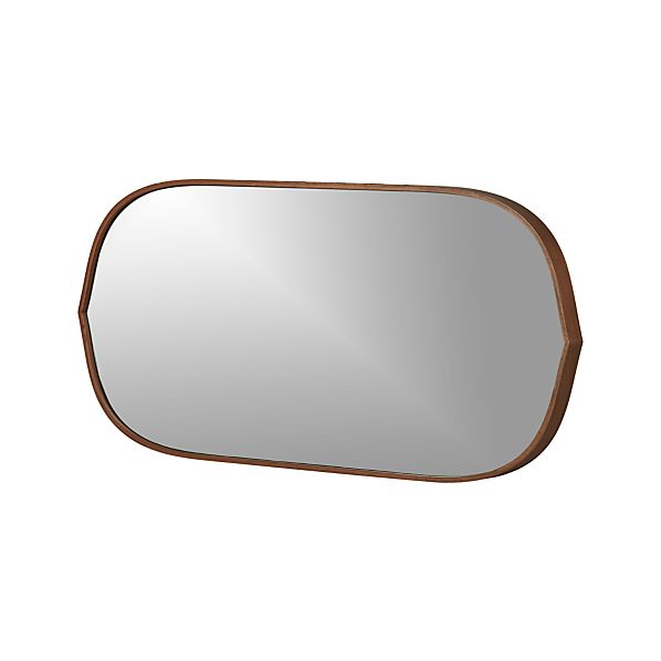 Penarth Walnut Oval Wall Mirror