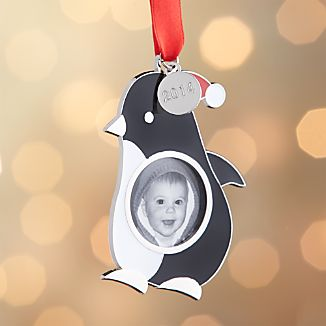 Penguin Photo Frame with 2014 Charm Ornament