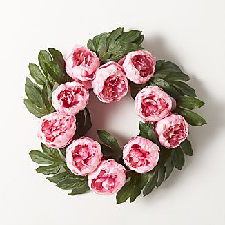 Peony Artificial Flower Wreath