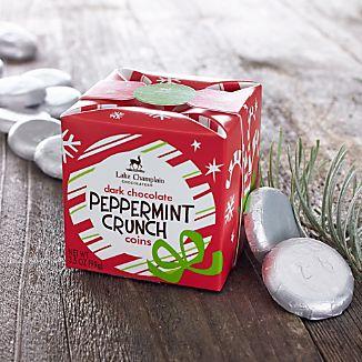 Dark Chocolate Peppermint Crunch Coins