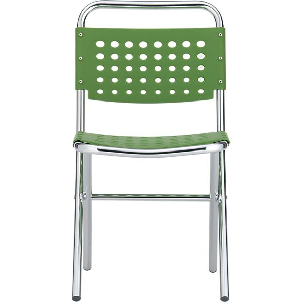 Perf Green Folding Chair
