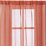 "Persimmon Sheer 52""x96"" Curtain Panel"