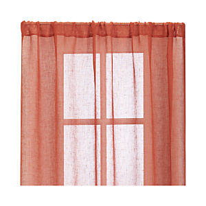Persimmon Sheer Curtain Panels