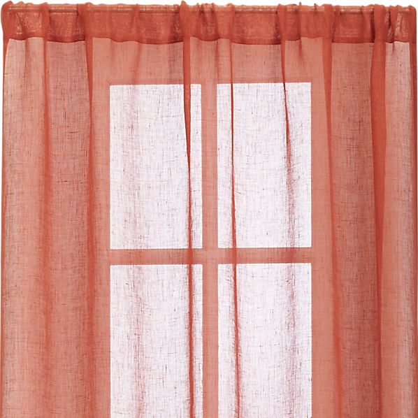 "Persimmon Sheer 52""x108"" Curtain Panel"