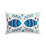 "Pesce 20""x13"" Pillow with Feather-Down Insert"