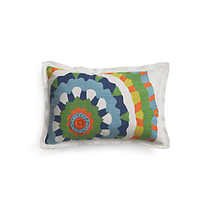 "Petal  20""x13"" Pillow with Feather-Down Insert"