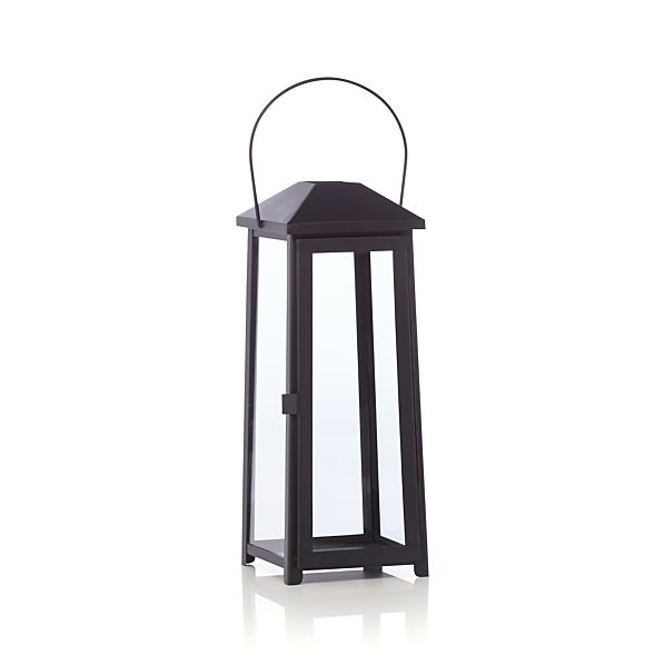 Petaluma Medium Black Metal Lantern