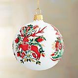 Petra Reindeer Ball Ornament