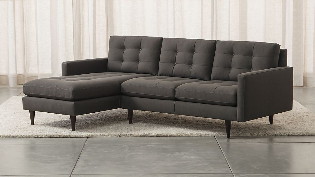 Petrie 2 Piece Sectional Sofa Graphite Crate And Barrel