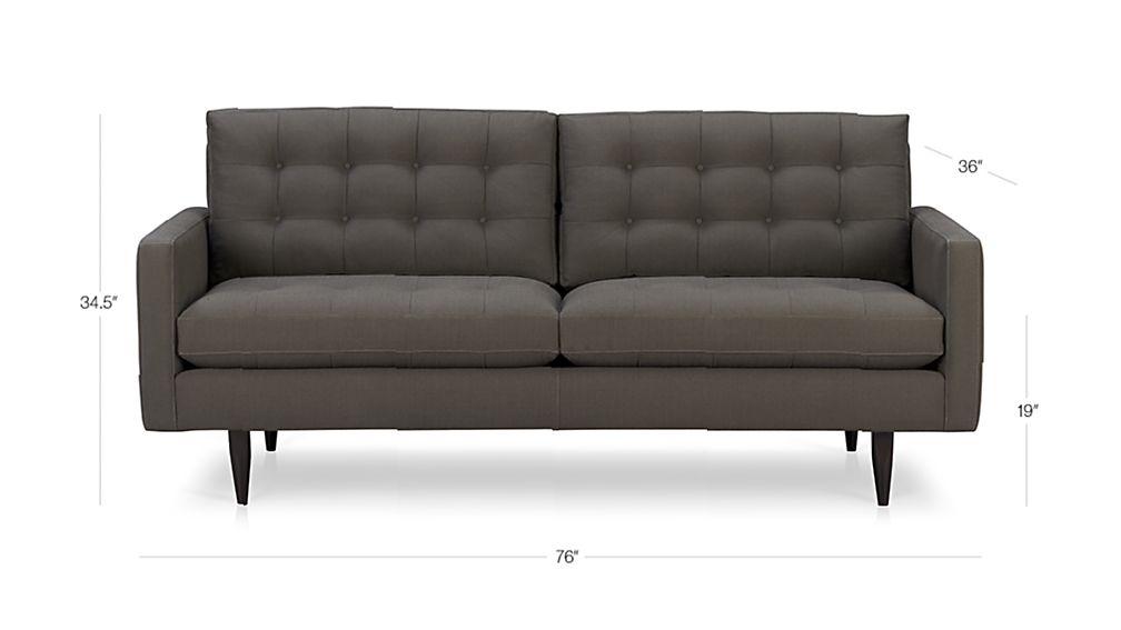 Petrie Apartment Sofa Dimensions