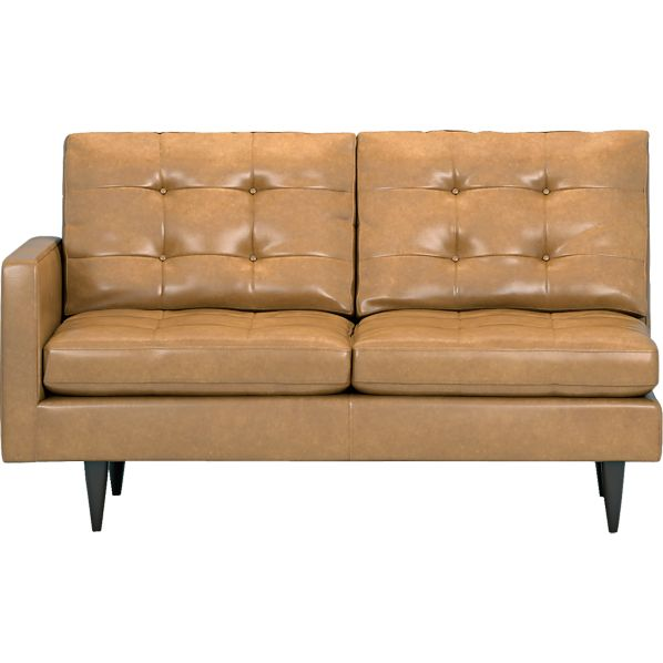 Petrie Leather Sectional Left Arm Loveseat