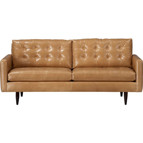 "Petrie Leather 76"" Apartment Sofa"