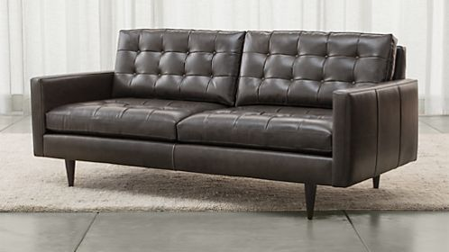 Petrie Leather Apartment Sofa