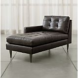 Petrie Leather Left Arm Chaise