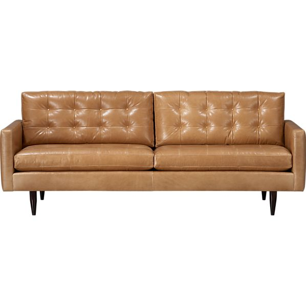 "Petrie Leather 86"" Sofa"