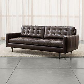 Petrie Leather Sofa
