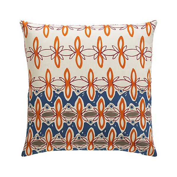 "Phoebe 23"" Pillow with Feather-Down Insert"