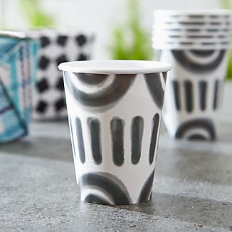 Set of 8 Pic-nic Squiggle Paper Cups