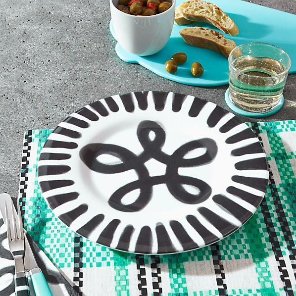 Pic-nic Melamine Peak Rim Dinner Plate